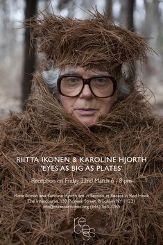 Eyes as Big as Plates – Brooklyn, NewYork.  Next Friday, March 22nd, 2013 from 6-8 pm, for one night only,Recess in Red Hookwill host an evening reception with performance, costumes, models and photographs by Riitta Ikonen and Karoline Hjorth.