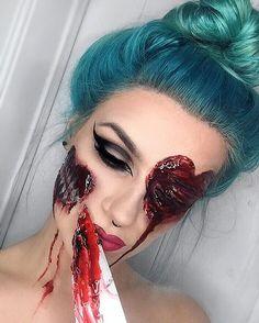"""October """"My Bloody Valentine"""" Sfx Makeup, Costume Makeup, Beauty Makeup, Hair Makeup, Makeup Inspo, Makeup Tips, Winter Makeup, Holiday Makeup, Halloween Make Up"""