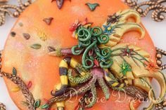 - SOLD - Pagan Autumn Fairy Wood Nymph Art Pendant  by DeidreDreams on Etsy, $90.00