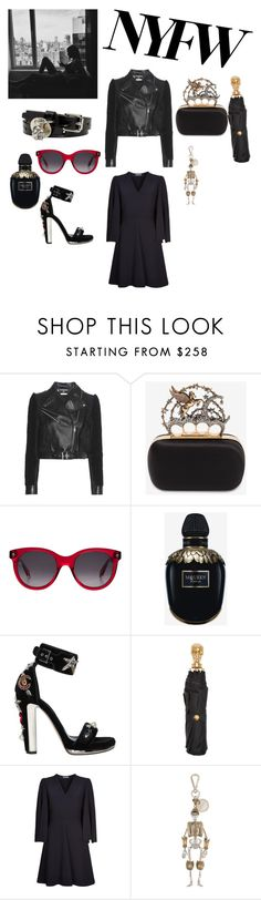"""Alexandermcquenn @nc4you"" by nc4you ❤ liked on Polyvore featuring Alexander McQueen, black, AlexanderMcQueen and NC4you"