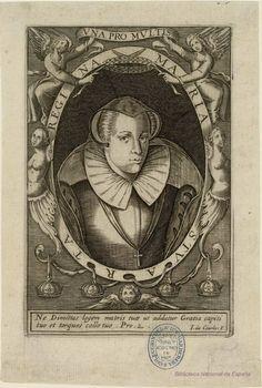 MARIA STUART REGINA. Courbes, Jean de ca. 1592-ca. 1641 — Grabado — 1627