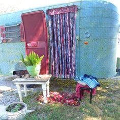 Gypsy Vardo door curtain Elephants bells by TheSleepyArmadillo