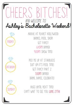 Bachelorette party invitation. Bachelorette by 4everYoungDesign, $19.99