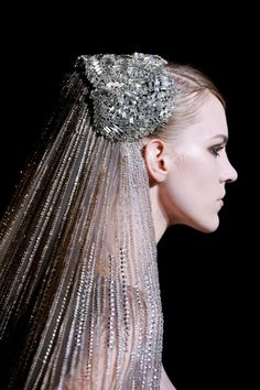 Elie Saab Haute Couture 2013 - Headpiece Veil Crown