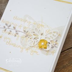 Stampin' Dolce: Floral Wings Card - #TGIFC46