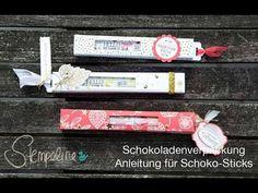 Schoko Stangen Verpackung, Schokoladenverpackung Anleitung