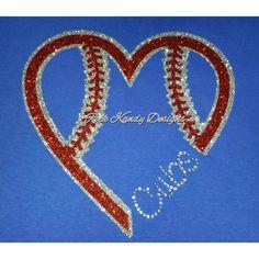 Cubs Baseball Glitter Rhinestones Tee by KandyCoat on Etsy
