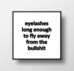 Quote Print & Frame  Eyelashes Long Enough to Fly by Outlookbunch3