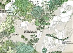 えーと多分「遅ればせながら」とか「いまさら」とかいう話だと思っていますがね。 藝大で見つけて広げてみたら動物園の園内Mapみたいだし、それにしては凄い。...