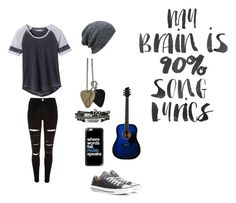 Untitled #102 by darksoul7 on Polyvore featuring polyvore, prAna, River Island, Converse, Hot Topic, KBETHOS, Casetify, WALL, fashion, style and clothing