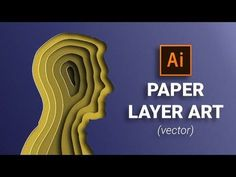 Paper Cut Out Layer Art Illustration in Illustrator Tutorial - digital werk hacks - Graphisches Design, Graphic Design Trends, Graphic Design Tutorials, Graphic Design Inspiration, Art Tutorials, Sketch Design, Vector Design, Design Elements, Pattern Design