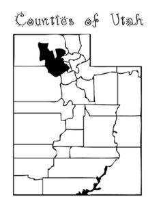 Utah Print. Illustration. Beehive State. Map. State