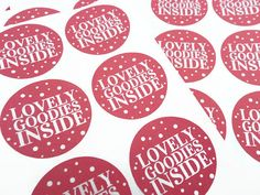 """Lovely Goodies Inside Pink Stickers 24 x 1.5"""""""