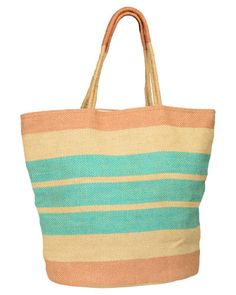 Trades of Hope - This fun tote is just what you need for a family outing or a day at the beach! It's the perfect carryall to fill with your favorite finds. Spun from long, strong vegetable fibers, these bags have a beautiful natural appearance and extreme durability.