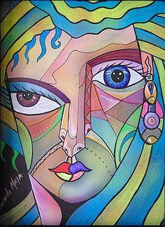 Painting By Ricardo Maya Art Faces, Face Art, Cubist Portraits, Picasso Art, Art Corner, Abstract Faces, Arte Pop, Prints For Sale, Fine Art America
