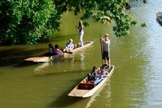 Punting in Oxford with a picnic and a few friends on a summer's day.