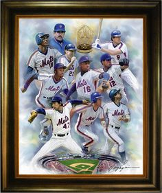 Oil Painting of one of the best teams ever: The 1986 World Series Champion New York Mets. http://www.star-portrait.org