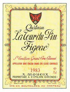 Chateau La Tour Du Pin Figeac Saint Emillion 1983 Wine Label