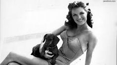 Julie London and her doxie