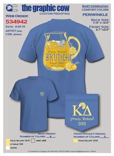 """This design would also be cute for a """"LemonADPi"""" event!"""