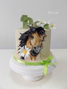 Horse and Daisy by MOLI Cakes