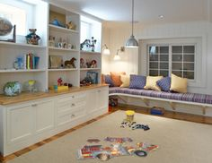 Window Seat in a Playroom