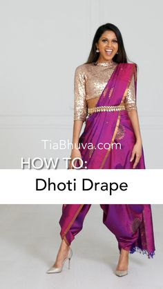 Indian Gowns Dresses, Indian Fashion Dresses, Indian Designer Outfits, Saree Fashion, Saree Wearing Styles, Saree Styles, Blouse Styles, Stylish Sarees, Stylish Dresses