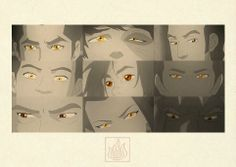 See amber eyes. People from the Fire nation have amber, water is blue eyes, air really light blue, and earth is green eyes. Avatar Aang, Avatar Airbender, Team Avatar, Avatar Cartoon, Blade Runner, Avatar Studios, Avatar World, Iroh, Korrasami