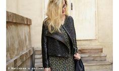 EN SOLDE // Pyrus veste perfecto laine/cuir noir #soldes #onsale