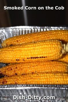 Smoked Corn on the Cob Recipe by Dish Ditty Recipes - Simplicity at it's best wi. - Smoked Corn on the Cob Recipe by Dish Ditty Recipes – Simplicity at it's best with this Smoked - Smoker Grill Recipes, Smoker Cooking, Grilling Recipes, Grilling Tips, Electric Smoker Recipes, Bbq Grill, Bbq Tips, Pan Cooking, Barbecue Ribs