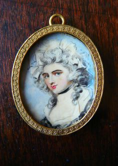 Portrait miniature on ivory- Lady Seymour by Richard Cosway 1784.