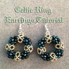 This tutorial will show you how to make the Celtic Ring earrings. Please note that this project is not really suitable for beginner beaders! The project is w...