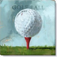 Golf-Ball-Painting-by-Darren-Gygi-Giclee-20-X-20-Canvas-Wall-Art-DG284L