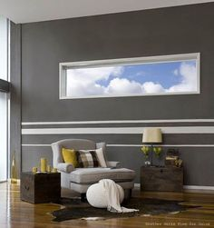 painted racing stripes on bedroom walls | White and gray stripes on walls, modern painting ideas for living room ...
