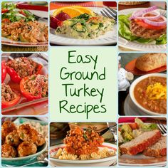 10 Easy Ground Turkey Recipes: Chili, Burgers, Meatloaf and More | EverydayDiabeticRecipes.com