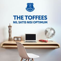 Everton Football Club Personalised Name /& Crest Wall Mural Sticker Bedroom Decal