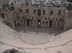 This image shows architecture in Athens, greece. This is a stadium but I do not know what it is called.