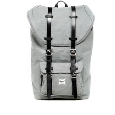 Herschel Supply Co. Little America Hemp Backpack ($100) ❤ liked on Polyvore featuring men's fashion, men's bags, men's backpacks and wild dove
