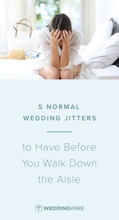 Wedding jitters definition