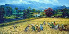 Franz Wilhelm Junghuhn - A rural scene in 19th century Java