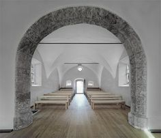 Lovely restauration of 14th century stone chapel in Austria