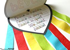 Teach kids about peace in the classroom and create this FREE dove peace foldable writing craft for Remembrance Day, Veteran's Day, MLK Day, International Peace Day. Sunday School Crafts For Kids, Bible Crafts For Kids, Craft Activities For Kids, Book Crafts, Book Activities, Preschool Ideas, Peace Crafts, Todd Parr, Remembrance Day Activities