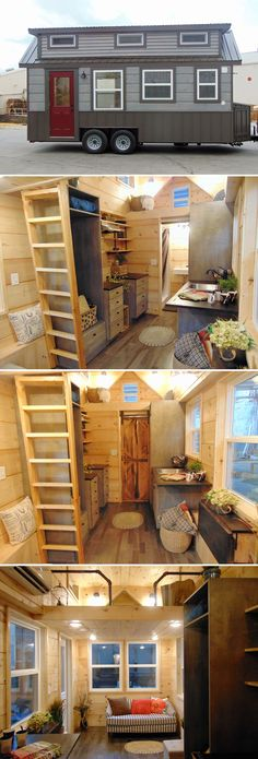 Morristown, Tennessee-based Incredible Tiny Homes worked with a client and her father to design and build the custom 20' Rookwood Cottage tiny house.