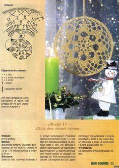 Christmas ornament with chart, Picasa Web Albums Crochet Snowflake Pattern, Crochet Motifs, Crochet Snowflakes, Crochet Stitches, Crochet Tree, Crochet Dollies, Diy Crochet And Knitting, Crochet Stars, Wind Chimes