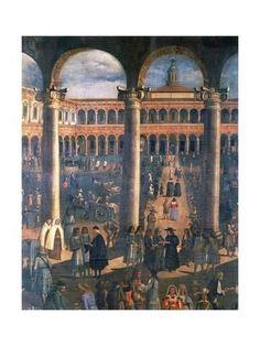 Giclee Print: Courtyard of Ospedale Maggiore or Ca' Granda, Milan : 24x18in