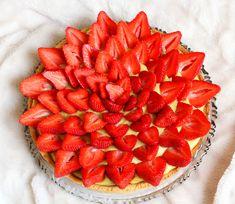 Tarte aux fraises pâte sablée vegan sans gluten sans lactose sans oeufs