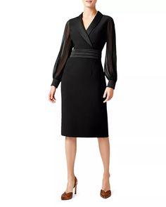 Hobbs Dresses, Day Dresses, Dresses For Work, Dresses With Sleeves, Tux Dress, V Neck Midi Dress, Sheath Dress, Hobbs Clothing, Hobbs London