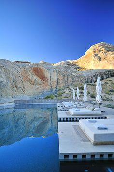 """The ultimate in a a romantic luxury getaway in Utah: """"Amangiri Luxury Resort is an enclave of luxury and style in Utah."""
