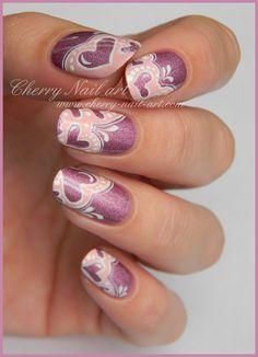 CHERRY NAIL ART #nail #nails #nailart Gorgeous Nails, Love Nails, Pretty Nails, Gel Nail Designs, Cute Nail Designs, Nails Design, Cherry Nail Art, Plum Nails, Valentine Nail Art