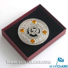 MaGillivray Clan Crest Plaid Brooch